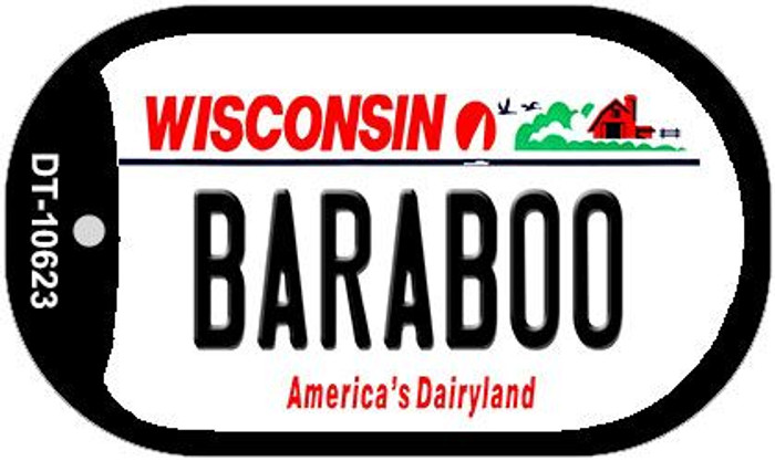 Baraboo Wisconsin Wholesale Novelty Metal Dog Tag Necklace DT-10623