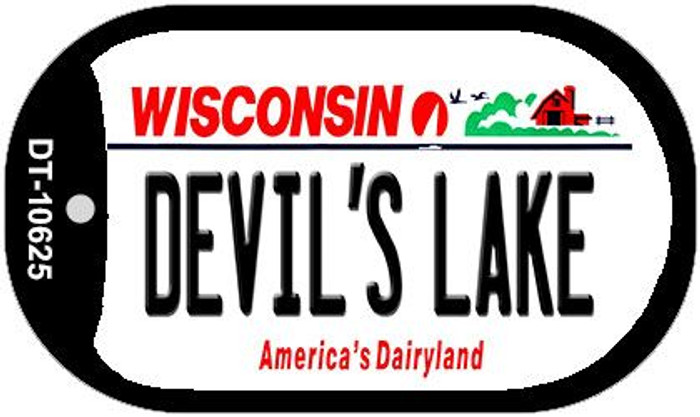 Devils Lake Wisconsin Wholesale Novelty Metal Dog Tag Necklace DT-10625