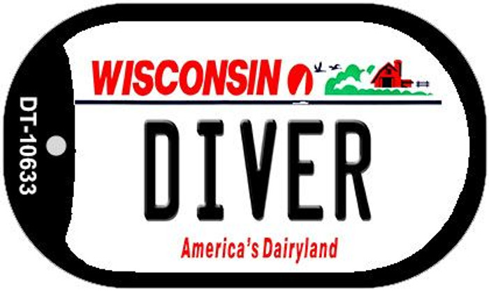 Diver Wisconsin Wholesale Novelty Metal Dog Tag Necklace DT-10633