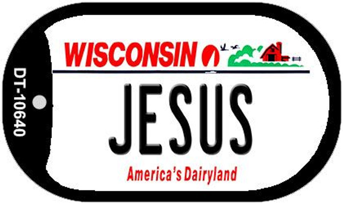 Jesus Wisconsin Wholesale Novelty Metal Dog Tag Necklace DT-10640