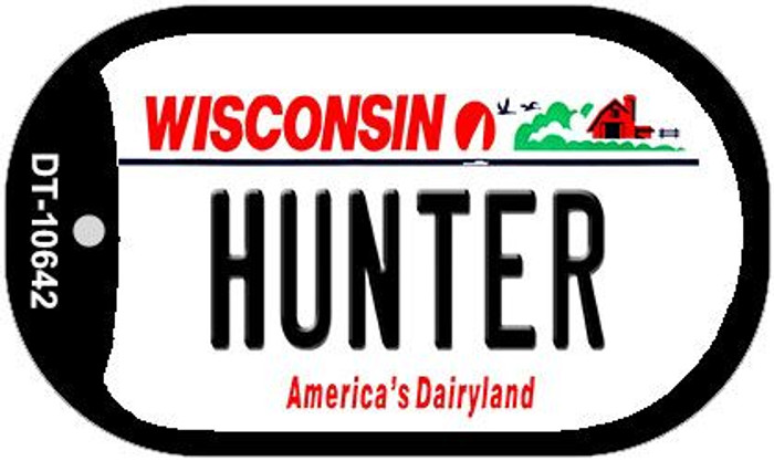 Hunter Wisconsin Wholesale Novelty Metal Dog Tag Necklace DT-10642