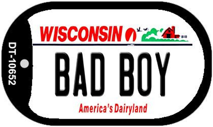 Bad Boy Wisconsin Wholesale Novelty Metal Dog Tag Necklace DT-10652