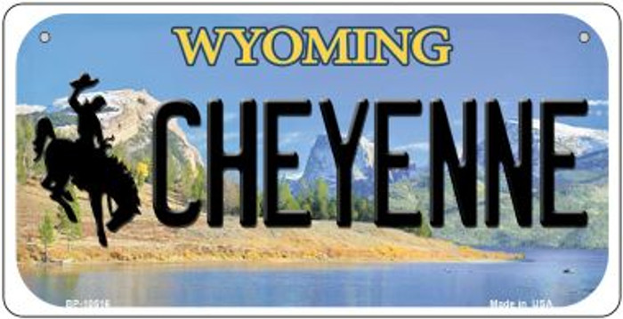 Cheyenne Wyoming Wholesale Novelty Metal Bicycle Plate BP-10516