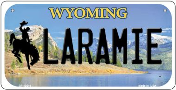 Laramie Wyoming Wholesale Novelty Metal Bicycle Plate BP-10519