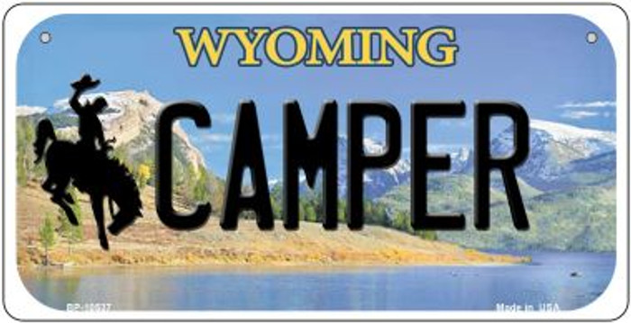 Camper Wyoming Wholesale Novelty Metal Bicycle Plate BP-10537