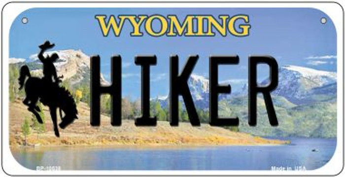 Hiker Wyoming Wholesale Novelty Metal Bicycle Plate BP-10538