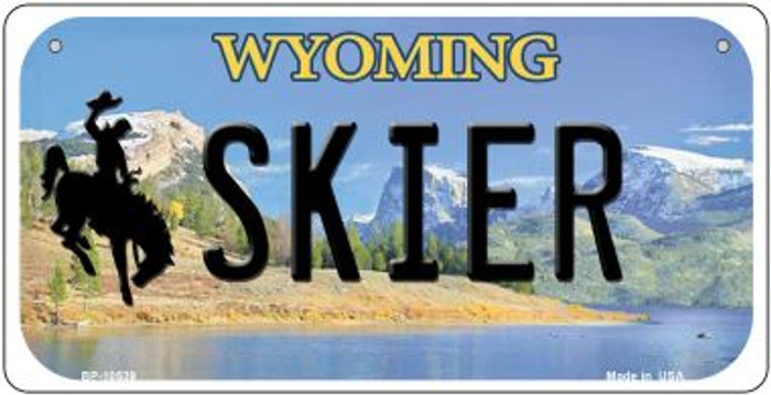 Skier Wyoming Wholesale Novelty Metal Bicycle Plate BP-10539