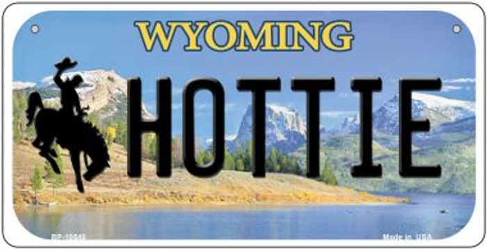 Hottie Wyoming Wholesale Novelty Metal Bicycle Plate BP-10540