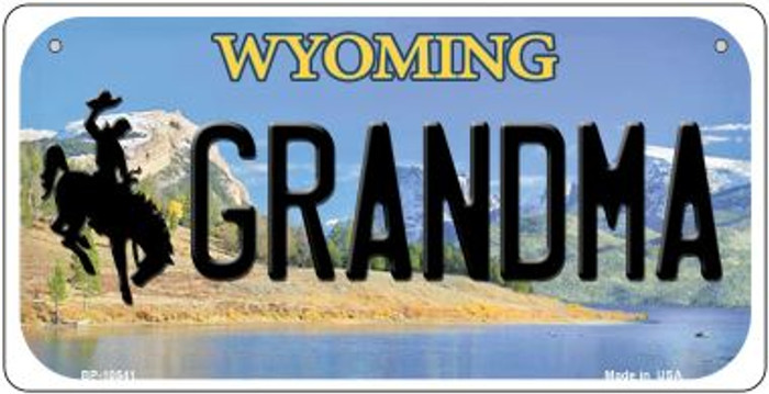 Grandma Wyoming Wholesale Novelty Metal Bicycle Plate BP-10541