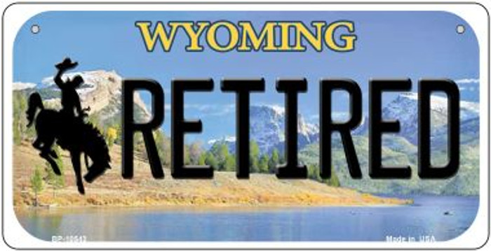 Retired Wyoming Wholesale Novelty Metal Bicycle Plate BP-10543