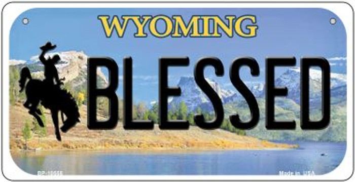 Blessed Wyoming Wholesale Novelty Metal Bicycle Plate BP-10555