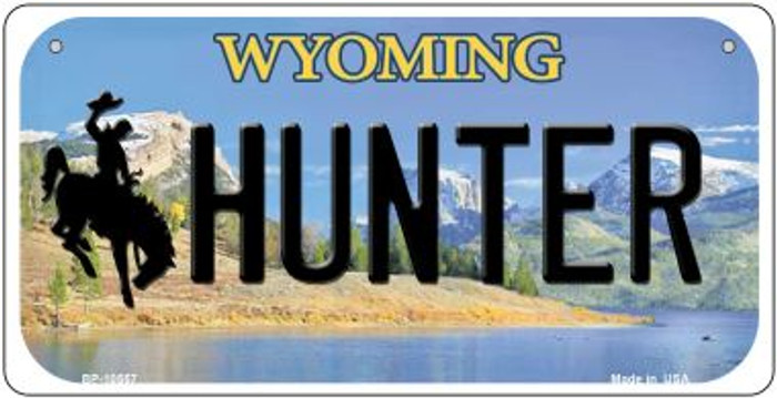 Hunter Wyoming Wholesale Novelty Metal Bicycle Plate BP-10557
