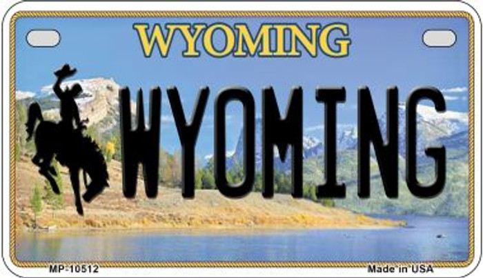 Wyoming Wholesale Novelty Metal Motorcycle Plate MP-10512