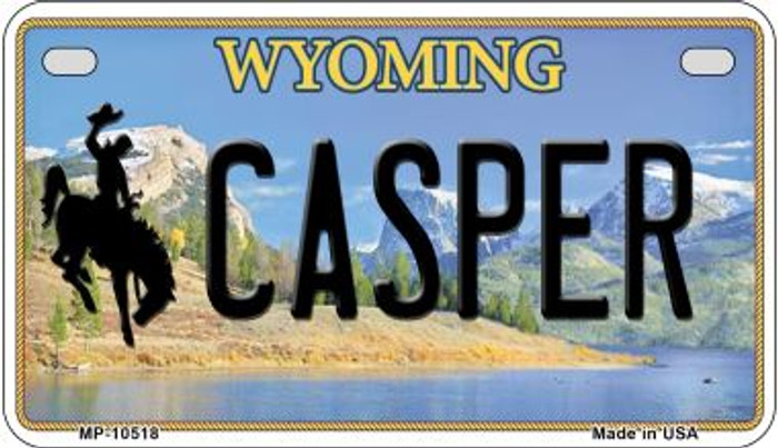 Casper Wyoming Wholesale Novelty Metal Motorcycle Plate MP-10518