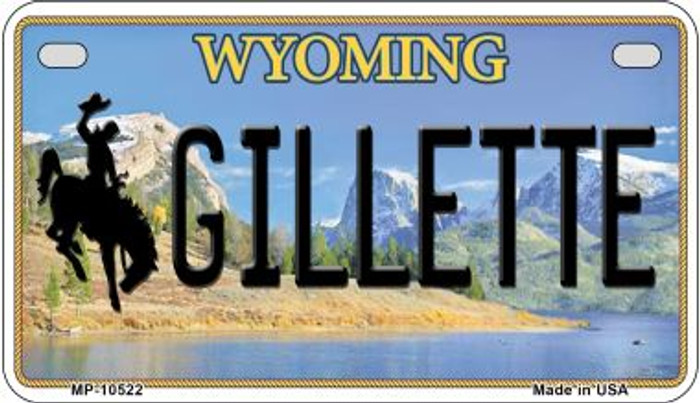 Gilletle Wyoming Wholesale Novelty Metal Motorcycle Plate MP-10522