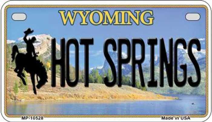 Hot Springs Wyoming Wholesale Novelty Metal Motorcycle Plate MP-10528