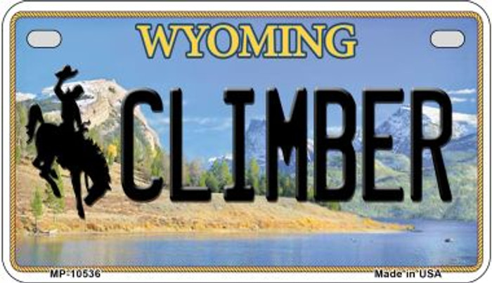 Climber Wyoming Wholesale Novelty Metal Motorcycle Plate MP-10536