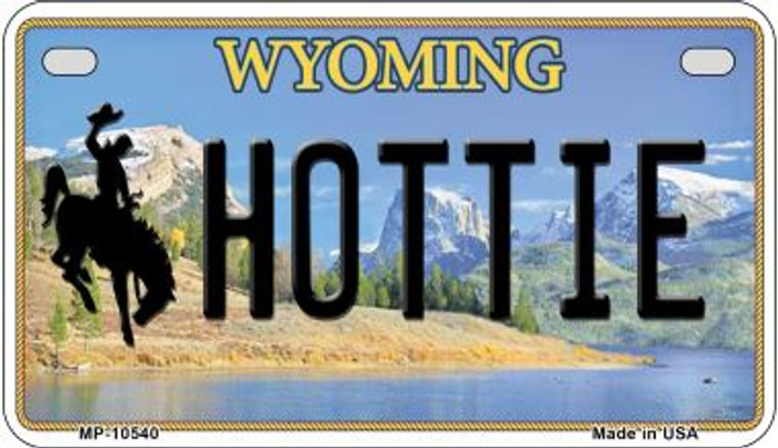 Hottie Wyoming Wholesale Novelty Metal Motorcycle Plate MP-10540