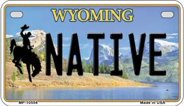 Native Wyoming Wholesale Novelty Metal Motorcycle Plate MP-10554