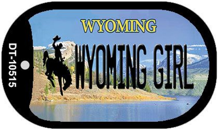 Wyoming Girl Wholesale Novelty Metal Dog Tag Necklace DT-10515
