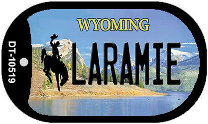 Laramie Wyoming Wholesale Novelty Metal Dog Tag Necklace DT-10519