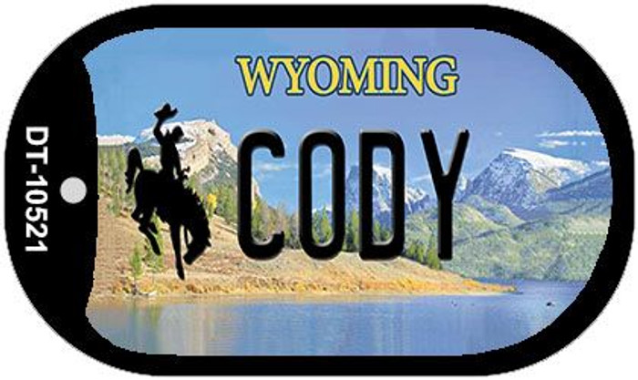 Cody Wyoming Wholesale Novelty Metal Dog Tag Necklace DT-10521