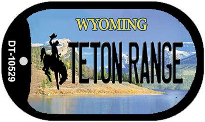 Teton Range Wyoming Wholesale Novelty Metal Dog Tag Necklace DT-10529