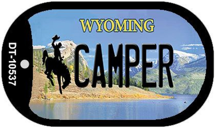 Camper Wyoming Wholesale Novelty Metal Dog Tag Necklace DT-10537
