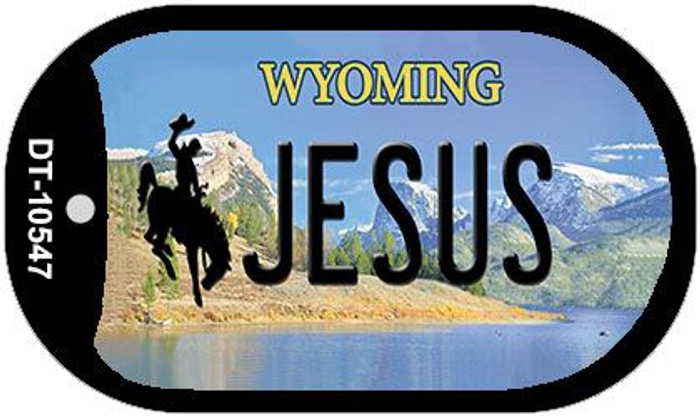 Jesus Wyoming Wholesale Novelty Metal Dog Tag Necklace DT-10547