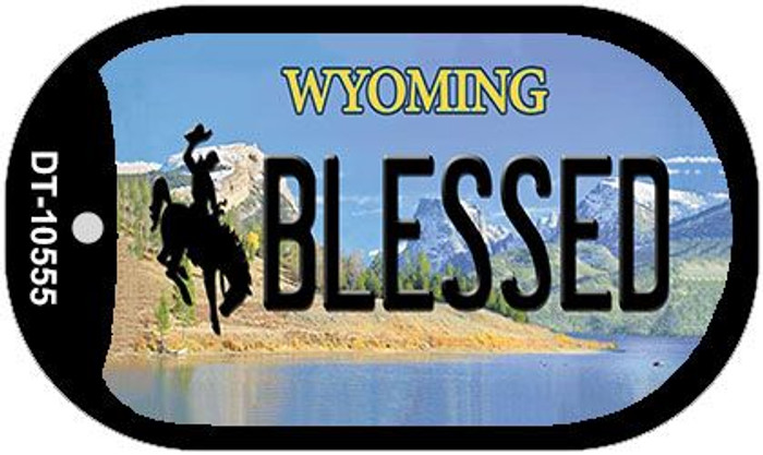 Blessed Wyoming Wholesale Novelty Metal Dog Tag Necklace DT-10555