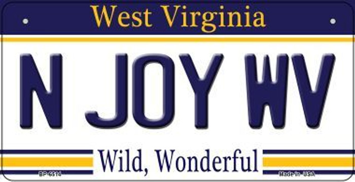 N Joy WV West Virginia Wholesale Novelty Metal Bicycle Plate BP-6514