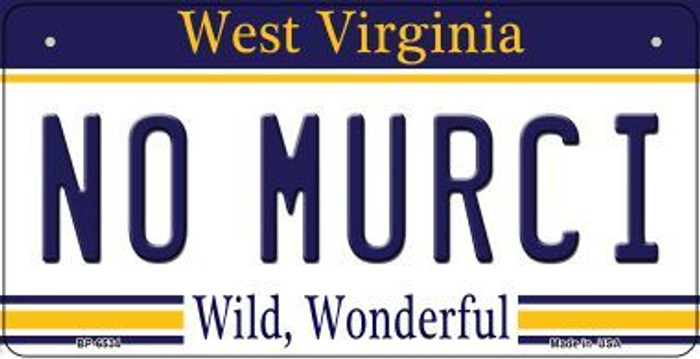 No Murci West Virginia Wholesale Novelty Metal Bicycle Plate BP-6534