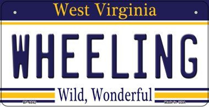 Wheeling West Virginia Wholesale Novelty Metal Bicycle Plate BP-6542