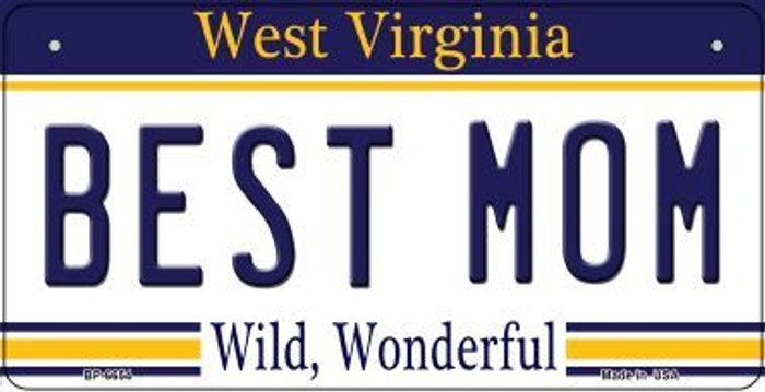 Best Mom West Virginia Wholesale Novelty Metal Bicycle Plate BP-6654