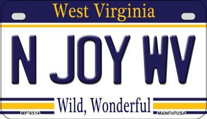 N Joy WV West Virginia Wholesale Novelty Metal Motorcycle Plate MP-6514