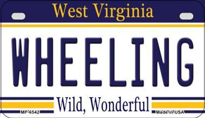 Wheeling West Virginia Wholesale Novelty Metal Motorcycle Plate MP-6542