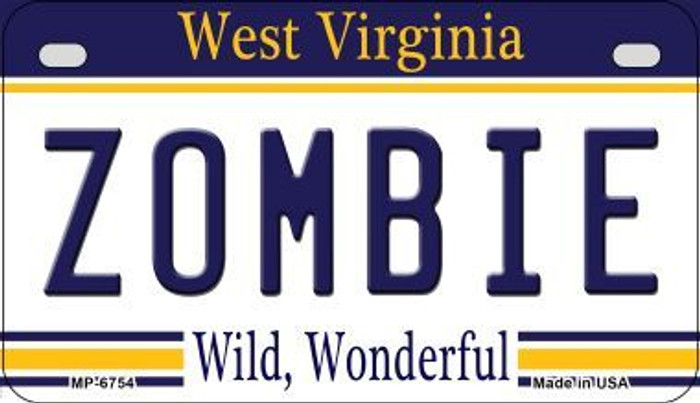 Zombie West Virginia Wholesale Novelty Metal Motorcycle Plate MP-6754