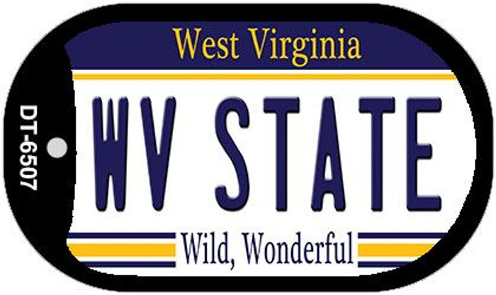 WV State West Virginia Wholesale Novelty Metal Dog Tag Necklace DT-6507