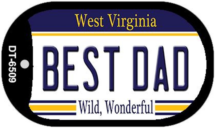 Best Dad West Virginia Wholesale Novelty Metal Dog Tag Necklace DT-6509
