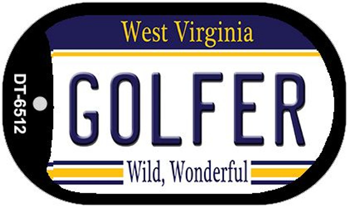 Golfer West Virginia Wholesale Novelty Metal Dog Tag Necklace DT-6512