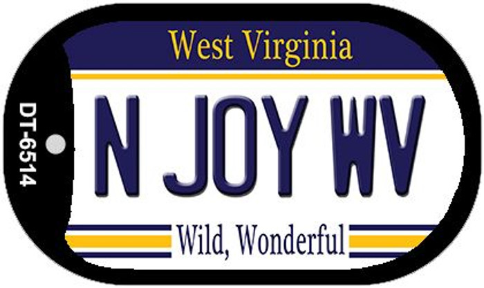 N Joy WV West Virginia Wholesale Novelty Metal Dog Tag Necklace DT-6514