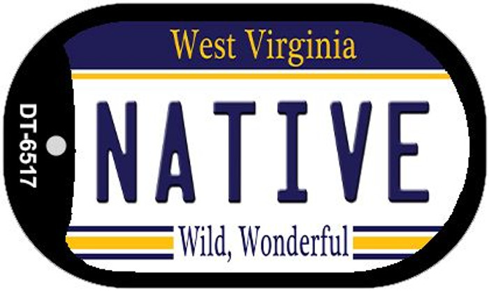 Native West Virginia Wholesale Novelty Metal Dog Tag Necklace DT-6517