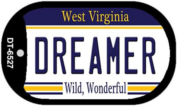 Dreamer West Virginia Wholesale Novelty Metal Dog Tag Necklace DT-6527