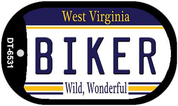Biker West Virginia Wholesale Novelty Metal Dog Tag Necklace DT-6531