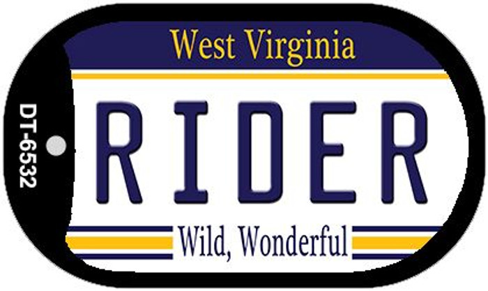 Rider West Virginia Wholesale Novelty Metal Dog Tag Necklace DT-6532