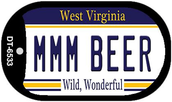 MMM Beer West Virginia Wholesale Novelty Metal Dog Tag Necklace DT-6533
