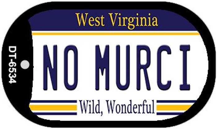 No Murci West Virginia Wholesale Novelty Metal Dog Tag Necklace DT-6534