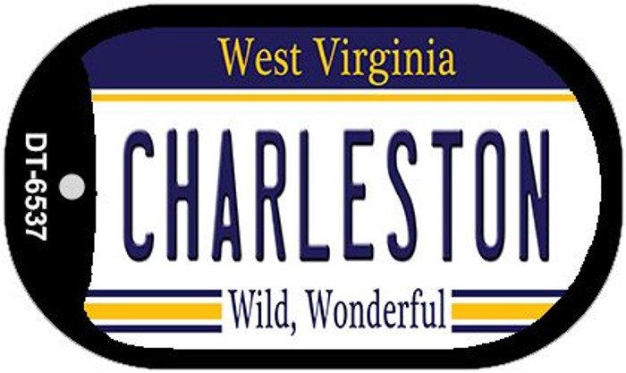 Charleston West Virginia Wholesale Novelty Metal Dog Tag Necklace DT-6537