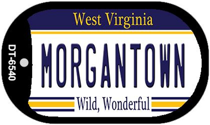 Morgantown West Virginia Wholesale Novelty Metal Dog Tag Necklace DT-6540