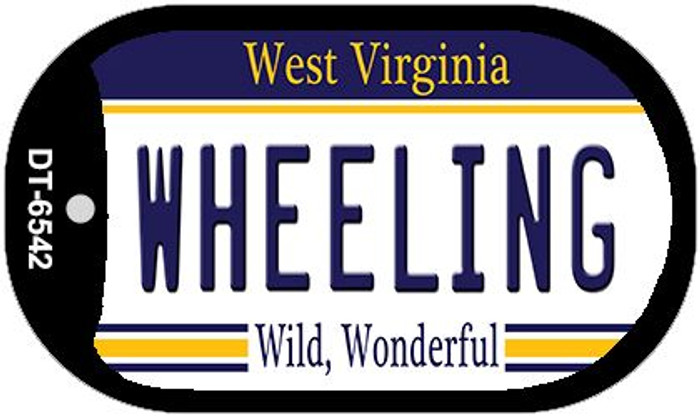 Wheeling West Virginia Wholesale Novelty Metal Dog Tag Necklace DT-6542